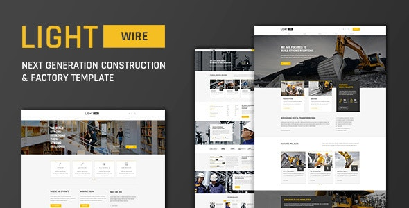 Lightwire - Construction And Industry Template - Business Corporate