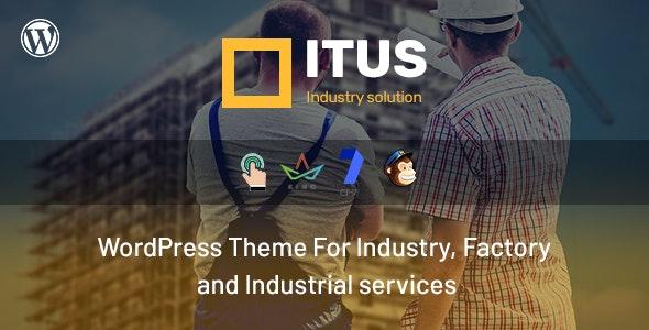 Itus - Industrial Manufacturing WordPress Theme - Business Corporate