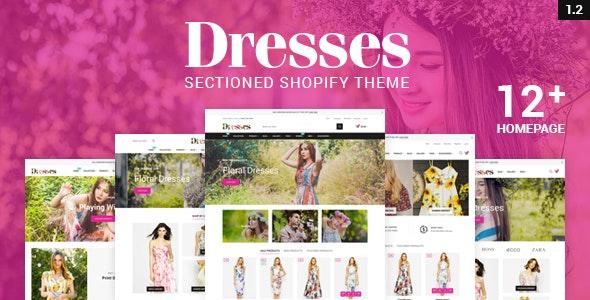 Dresses - Responsive, Drap & Drop Shopify Theme - Shopify eCommerce