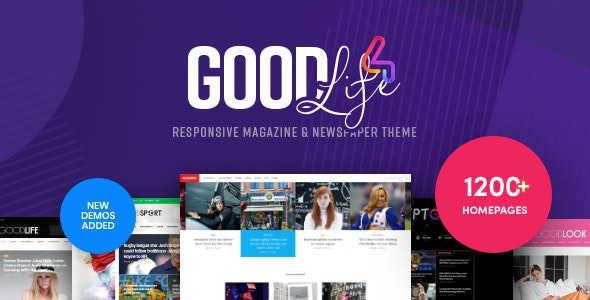 GoodLife - Magazine & Newspaper WordPress Theme - News / Editorial Blog / Magazine