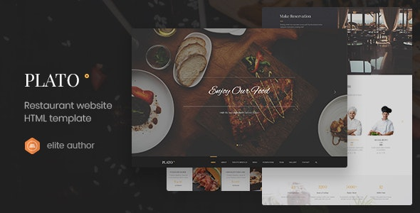 Plato - Restaurant & Food One Page HTML5 Template - Food Retail