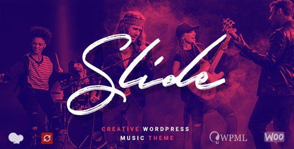 Slide - Music WordPress Theme