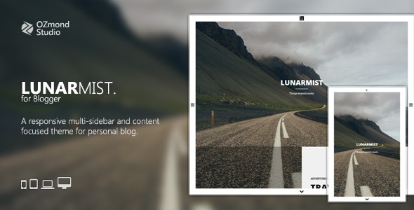 LunarMist: A Responsive Theme for Photography & Personal - Blogger Blogging