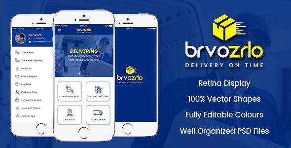 Brvozrlo Mobile App PSD - Business Corporate