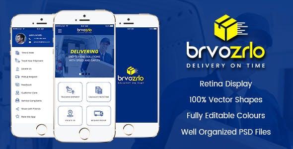 Brvozrlo Mobile App PSD