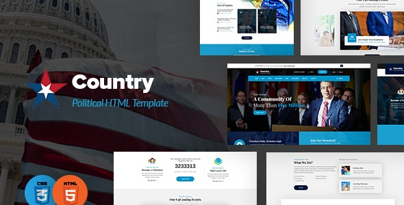 Country - Political HTML Template - Political Nonprofit