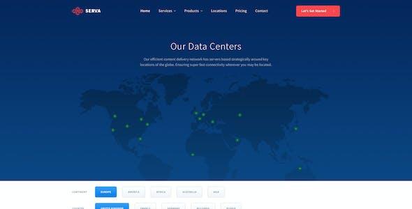Serva - Cloud Hosting and Server PSD Template