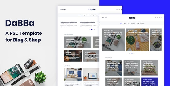 Dabba - A PSD Template For Blog & Shop - Creative Photoshop