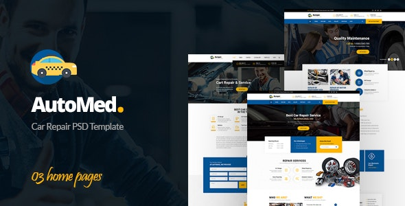 AutoMed - Auto Repair PSD template - Business Corporate