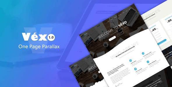 Véxo - One Page Parallax - Site Templates