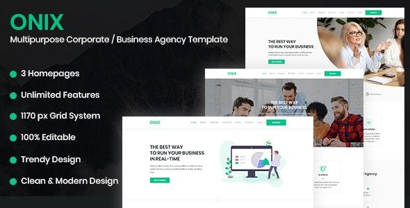 ONIX – Multipurpose Corporate/Business Agency HTML5 Template - Business Corporate