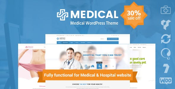 Medical Clinic Hospital WordPress Theme | inMedical by inwavethemes