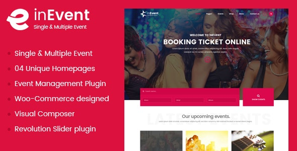 InEvent | Multi-Purpose for Conference Management WordPress Theme - Events Entertainment