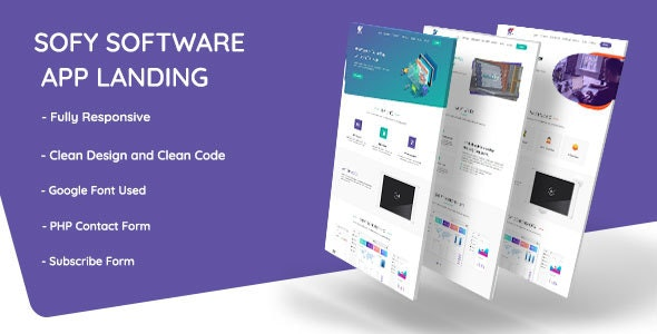 Sofy Responsive Software App Landing Template + RTL - Software Technology