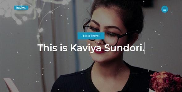 Kaviya - Portfolio Template - Portfolio Creative