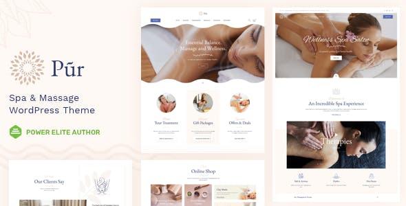Pur - Spa Massage WordPress