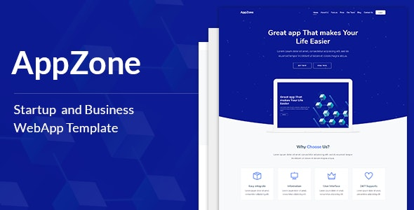 AppZone - Startups Business & WebApp Template - Technology Site Templates