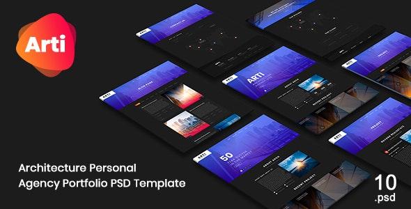 Arti - Architecture Personal Agency Portfolio PSD Template - Art Creative