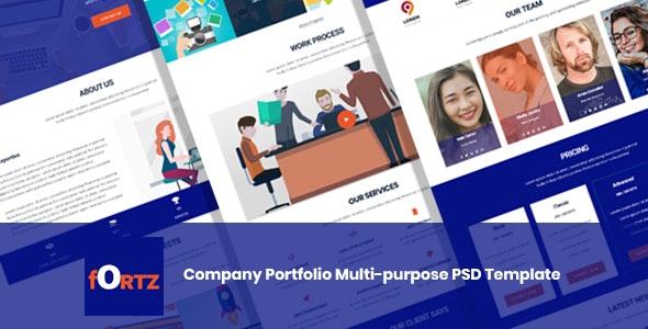 Fortz – Company Portfolio Multi-purpose PSD Template - Portfolio Creative