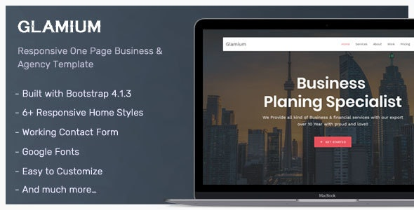 Glamium - Responsive Multipurpose HTML5 Template - Corporate Site Templates