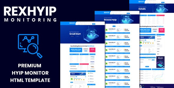 RexHYIP - HYIP Monitor & Listing HTML Template - Technology Site Templates