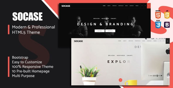 Socase- Multipurpose HTML5 Template - Site Templates