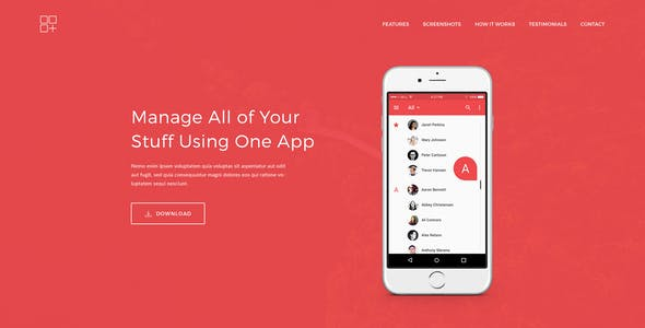 App Landing Page WordPress Themes from ThemeForest (Page 2)