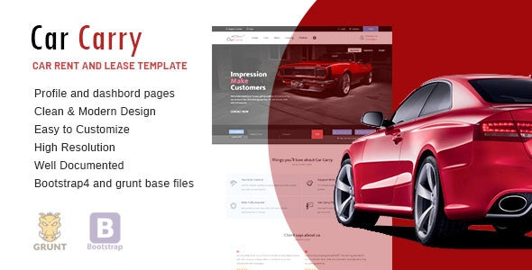 Car Carry Rent & Lease Responsive Template - Business Corporate