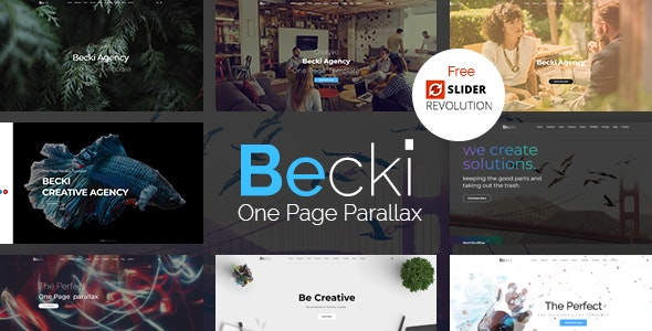 Becki - Creative Parallax One Page HTML Template - Creative Site Templates