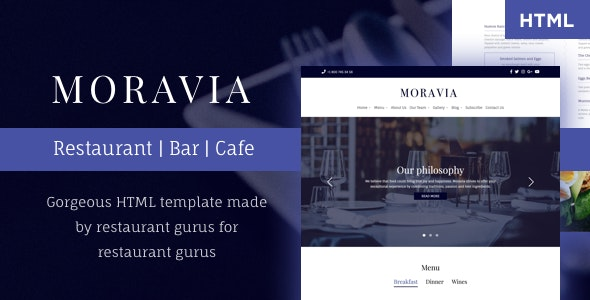 Moravia | Multi page All-in-One Restaurant & Cafe HTML Template - Restaurants & Cafes Entertainment