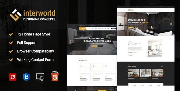 Interworld - HTML Template for Architecture, Construction, and Interior Design - Creative Site Templates