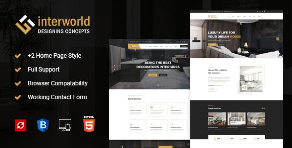 Interworld - HTML Template for Architecture, Construction, and Interior Design