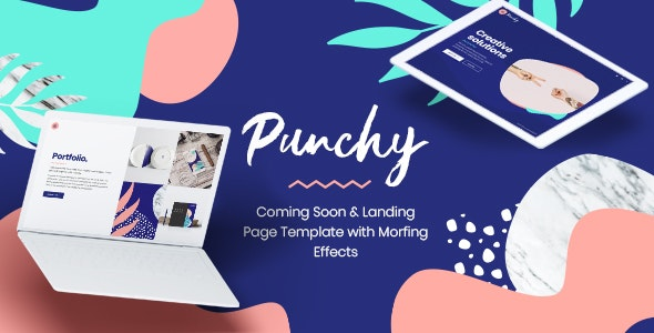 Punchy - Coming Soon and Landing Page Template with Morphing Effects - Under Construction Specialty Pages