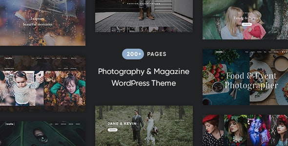 Brailie Responsive Photography WordPress Theme - Photography Creative