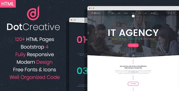 DotCreative – Web Design Agency HTML Template - Marketing Corporate
