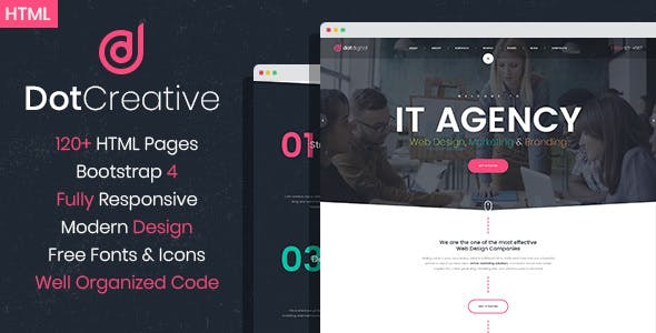 Dotcreative Web Design Agency Html Template Tags Seo Company