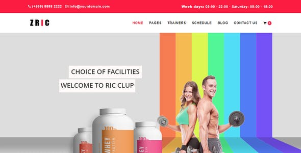 Zric - Fitness Multipages Drupal 8 Theme