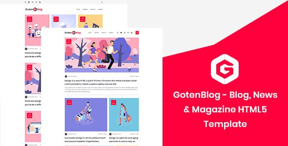 GotenBlog - Blog, News & Magazine HTML5 Template - Personal Site Templates