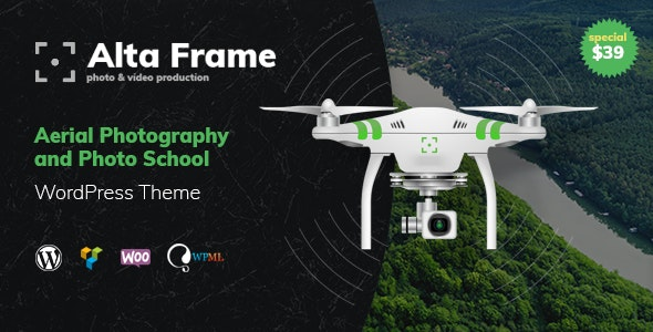 Altaframe - Drone Aerial Videography and Photo School WordPress Theme - Photography Creative