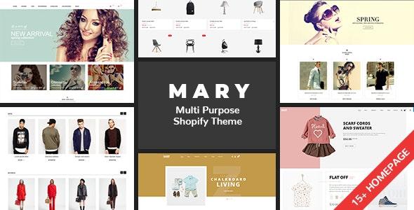 Shopify Mary Clean Minimal Drag Drop By Velatheme Themeforest