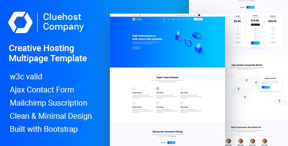 ClueHost - Hosting HTML5 Template - Hosting Technology
