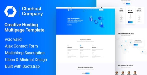 ClueHost - Hosting HTML5 Template