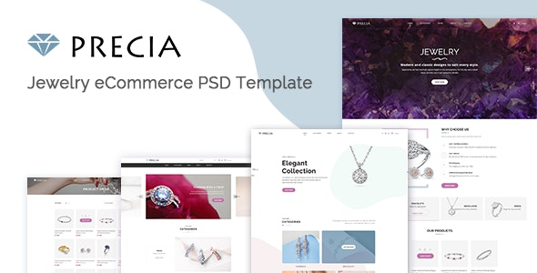 Precia – Jewelry E-commerce PSD Template - Retail PSD Templates