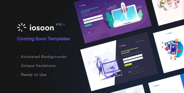 Iosoon | Stunning Coming Soon Template - Vol1 - Under Construction Specialty Pages