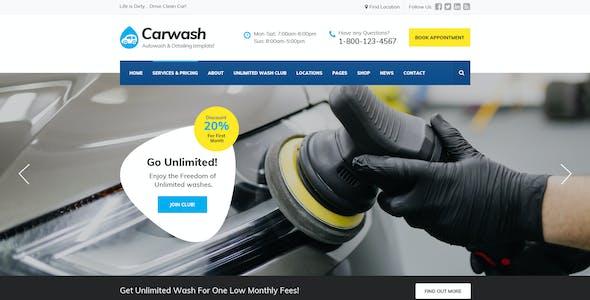 Car Wash - Auto Detail, Mechanic & Repair Services PSD Template