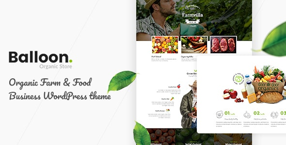 Balloon | Organic Farm & Food Business WordPress Themes - WooCommerce eCommerce