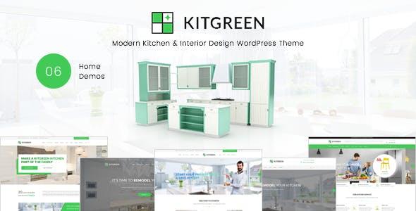 KitGreen - Modern Kitchen & Interior Design WordPress Theme - WooCommerce eCommerce