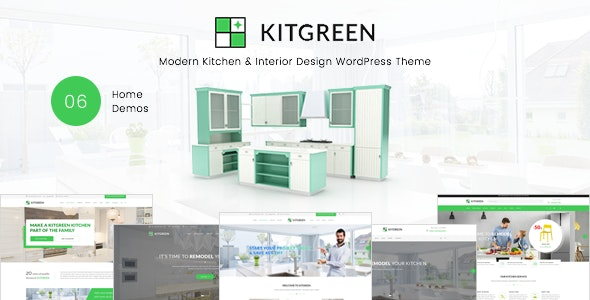 KitGreen - Interior and Kitchen Design WordPress Theme - WooCommerce eCommerce