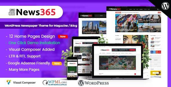 News365 - WordPress Newspaper Theme for Magazine / Blog