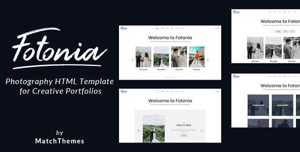 Fotonia - Photography Portfolio Template - Photography Creative